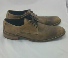 Cole Haan Dryden Brown Leather Oxford Shoe Distressed Size 13