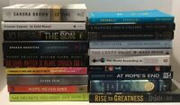 Paperback Book Lot 20 Mixed Genre Books Gillian Flynn Sandra Brown Abe Lincoln