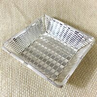Christofle Tresse Silver Plated Bread Basket Fruit Bowl Woven Wire Work Square