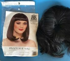 Peggy Sue Black Wig by Franco 21020-01 Costume Play Cleopatra Washable