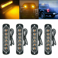 4X 6 LED Amber Emergency Flashing Recovery Strobe Beacon Car Truck Light 12/24V