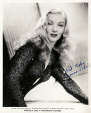 VERONICA LAKE (Publicity) 8x10 Autographed Black & White Sepia Toned Photo - RP