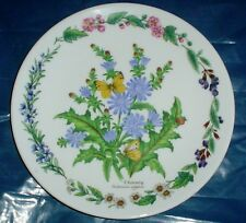 Royal Worcester Collectors Plate CHICORY - HERBS BY ROYAL WORCESTER