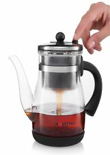 Gourmia GTP9815 Glass Tea & Coffee Maker, Stainless Steel Filter Tumbler Infuser