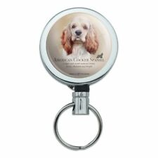 American Cocker Spaniel Dog Breed Retractable Belt Clip Badge Key Holder