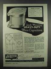 1943 Aerovox Type 1940 Mica Capacitor Ad