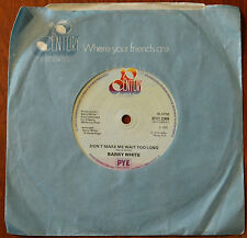 "Barry White ‎– Don't Make Me Wait Too Long 7"" – BTC 2309 – VG"