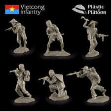 Plastic Platoon Toy Soldier Vietcong Infantry New 1/32