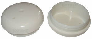 """24 Patio Furniture Foot 1.5"""" White Deluxe Inserts Glides Caps Cups 1 1/2 Inch"""