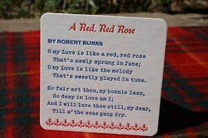 Scottish Coasters. Robert Burns Poem x 100