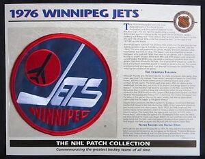 1976 WINNIPEG JETS Willabee Ward NHL THROWBACK HOCKEY TEAM LOGO PATCH Info Card