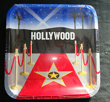8x Película Hollywood platos de papel para Fiesta Vajilla Alfombra Roja