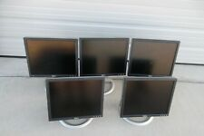 "LOT-5 Dell 17"" LCD Monitor VGA DVI 4-Port USB Hub 1706FPV 1703FP 1704FPt 1705FP"