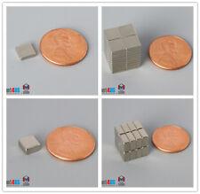 "N52 6mm 1/4"" Square Rare Earth Neodymium Block Magnets"