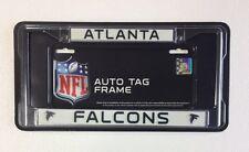 Atlanta Falcons Chrome Metal License Plate Frame - Auto Tag Holder - NEW