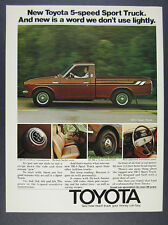 1975 Toyota SR5 Sport Truck brown pickup photo vintage print Ad