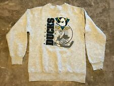 Kids Vintage 90s 1994 Mighty Ducks Gray Pullover Hockey SweatShirt Youth Size L