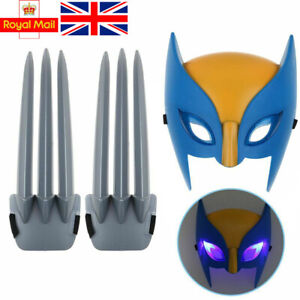 Wolverine Mask claws X-men Hero Cosplay luminous LED Logan Kids Play House Toys