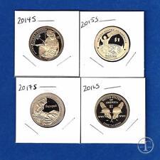 2014 Through 2017 S Proof Sacagawea Native American Dollar Set-Four Dollars