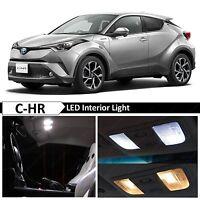 10x White Interior LED Lights Package Kit for 2018 Toyota C-HR CHR XLE