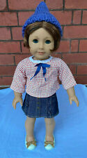American Girl Saige Copeland doll, 18 inch, brunette, blue eyes, freckles