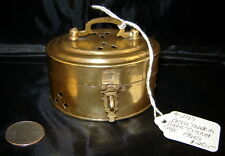 Vintage Brass CRICKET CAGE Trinket Box w/ Latched Lid (1960's) Made in India