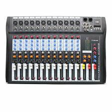 Pro 12 Channels Audio Mixer Sound Mixing Mixer Console Board Usb Studio Metal