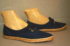 7.5 New Vtg 1970s BLUE Keds Waffle Sole ESPADRILLE SNEAKER Flats Tennis 70s Shoe