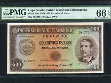 Portuguese Cape Verde:P-50,500 Escudos 1958 * Serpa Pinto * PMG Gem UNC 66 EPQ *