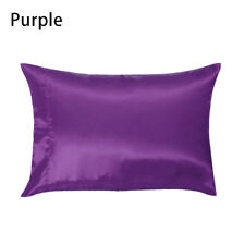 Multi-Color Silk Satin Standard Pillow Case Cushion Cover Pillowcase Home Decor