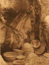 Edward Curtis - Yokuts Basketry Designs (B) - 1924 - Vintage Large Photogravure