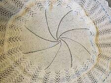 New Beautiful Hand Knitted Circular Baby/Christening/Wedding Shawl/Blanket