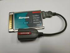 New listing Xircom 32 Bit Card Bus Ethernet 10/100 Pcmcia Cbem56G-100 Global Access w/dongle
