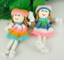 20Pcs Cute Pattern Dress Girl Small Doll For Appliques craft/Sewing/Decoration