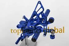 For Yamaha YZF R6 2006-2015 Blue CNC Footpegs Rearsets Rear Set Adjusting
