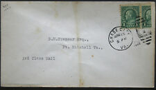 Cover - True One Cent Bisect to 1 1/2 Ct 3rd Class Mail rate - Chase Va S20