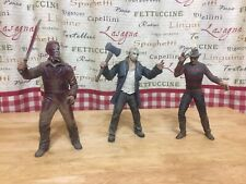 Lot Of 3 Michael Myers Jason Freddy Kruger Action Figures Halloween Rob Zombie
