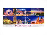 München 6er Highlights Foto Magnet Germany 12 cm Reise Souvenir