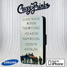 BTS Bangtan Boys Sonyeondan Band Cool Phone Cover Leather Flip Case C65