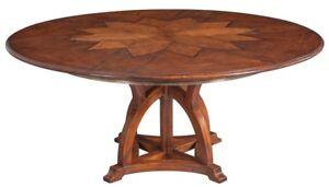 "64"" Extendable Dining Table Large Solid Walnut White Oak Wood Veneer Brass"