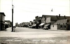 RPPC ~ MAIN ST ~ COKE ~ CAFE ~ BEER ~ STORE FRONTS ~ RAPID RIVER MICHIGAN    72E