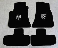 Autoteppich Fußmatten für Dodge Challenger ab Bj.2008 Velours Nubuk silber Neu