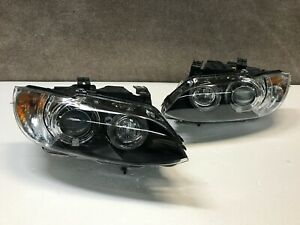 2007 2008 2009 2010 BMW 3 Series Right Left Headlight Pair Set Xenon Dynamic OEM