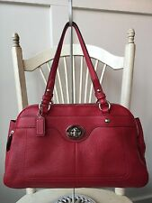 COACH PENELOPE Red Pebbled Leather Shoulder Bag Satchel Handbag 16529 Beautiful!