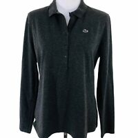 LACOSTE Womens long sleeve golf shirt Gray Size 46