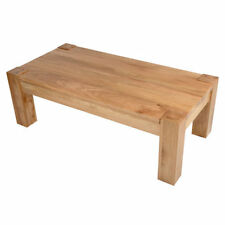 Oak Rectangle 60cm-80cm Height Coffee Tables with Flat Pack