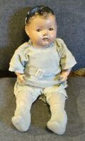 """21"""" ANTIQUE CLOTH & COMPOSITION BABY DOLL,PERIOD  CLOTHES"""