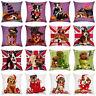 HD_ ALS_ Halloween Christmas Dog Printed Throw Pillow Case Cushion Cover Home Ca