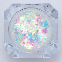 Holographic Butterfly Nail Art Flakes AB Glitter Sequins Sparkle Paillette--