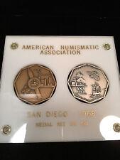 AMERICAN NUMISMATIC ASSOCIATION SAN DIEGO 1968 MEDAL SET NO. 287